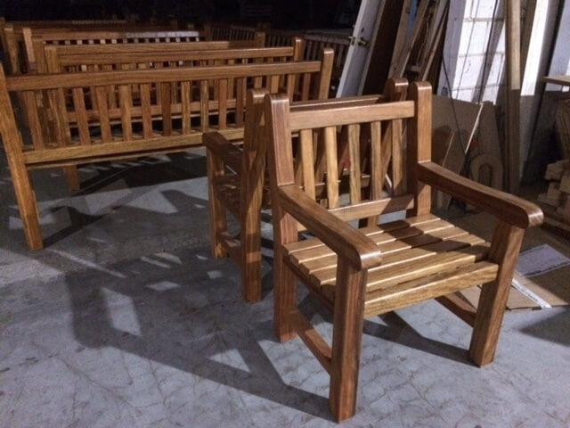 silla mobiliario urbano en galicia